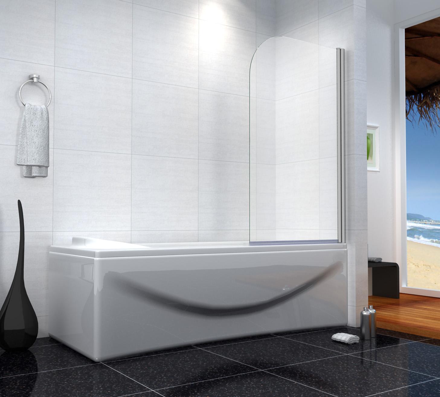 badewanne duschwand dusche drehen 180 trennwand duschabtrennung 80x140cm b1h ebay. Black Bedroom Furniture Sets. Home Design Ideas