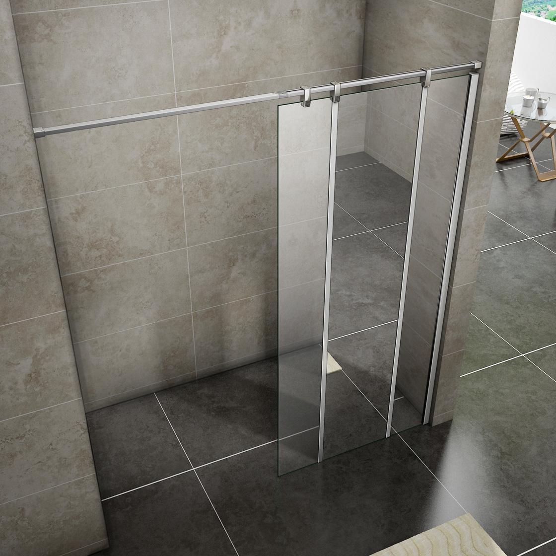 1200x2000 Wet Room Shower Enclosure Mirror Glass Screen