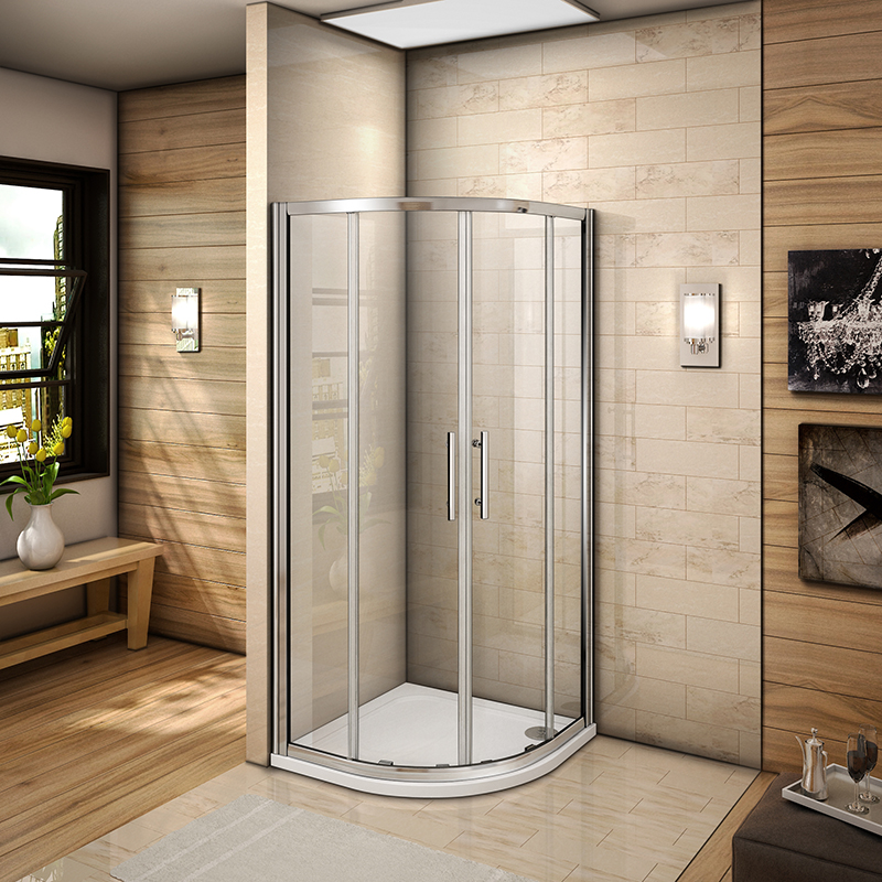 chrome bifold quadrant sliding pivot wet room shower enclosure glass screen door ebay. Black Bedroom Furniture Sets. Home Design Ideas