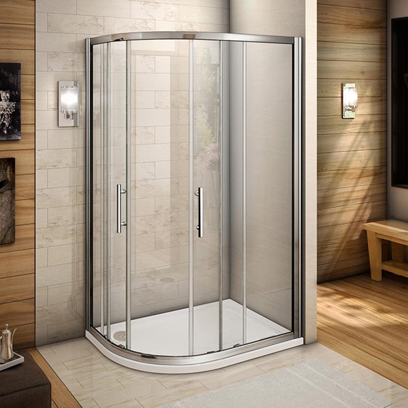 Offset 1200x800 Quadrant Shower Enclosure Walk In Glass