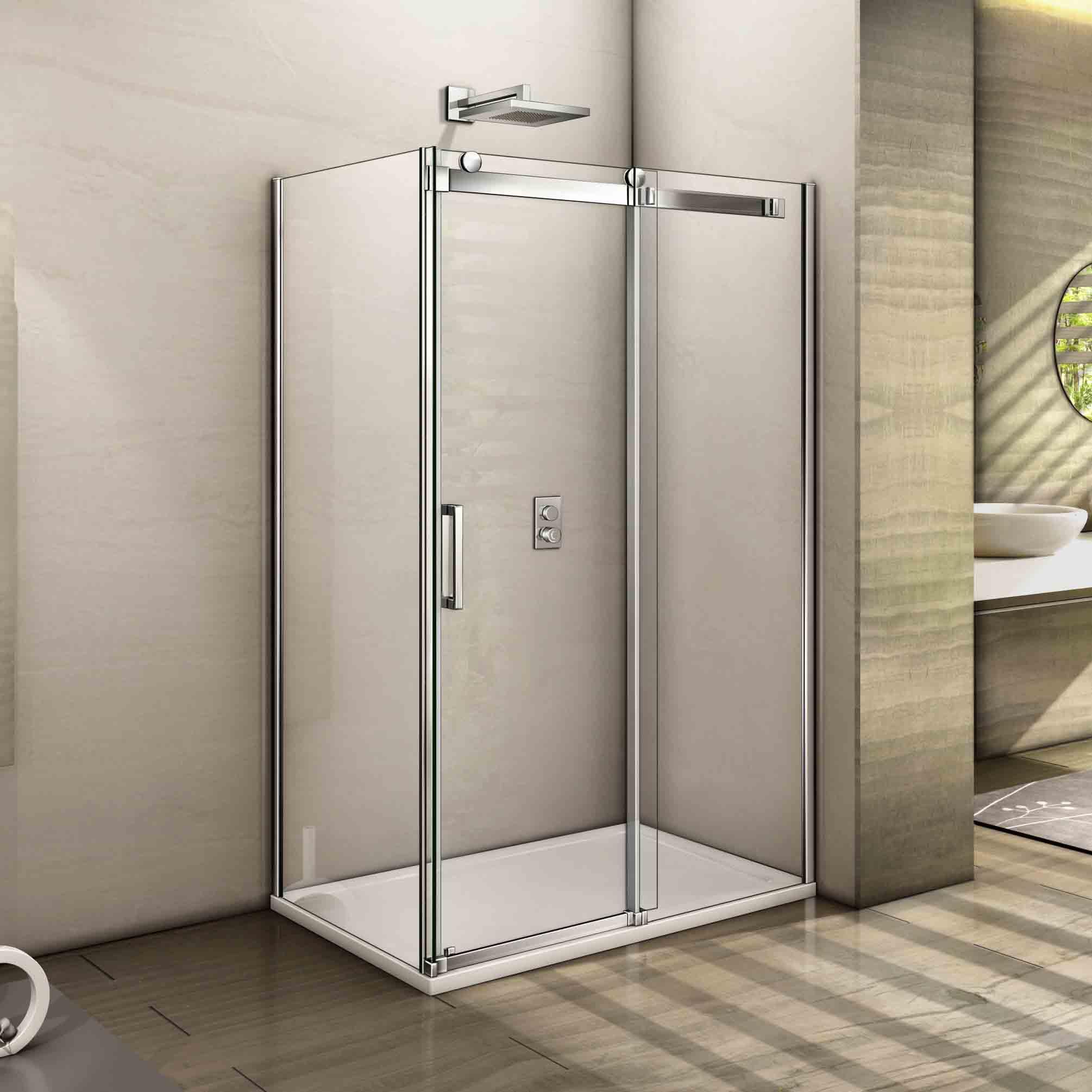 2010 #919E2D  Enclosure Sliding Door Easyclean Glass Screen Tray 1200x2000mm EBay image Ebay Entry Doors 41532010