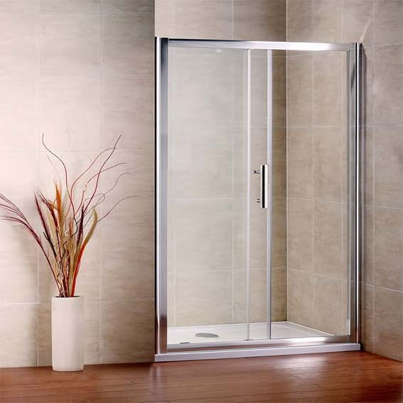 Aica sliding shower enclosure door cubicle screen tempered for 1300 sliding shower door