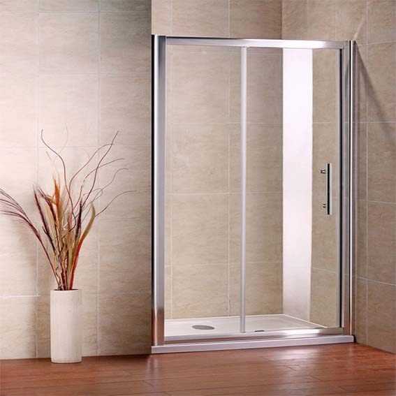 Aica bifold pivot sliding quadrant shower door wet room for 1300 sliding shower door