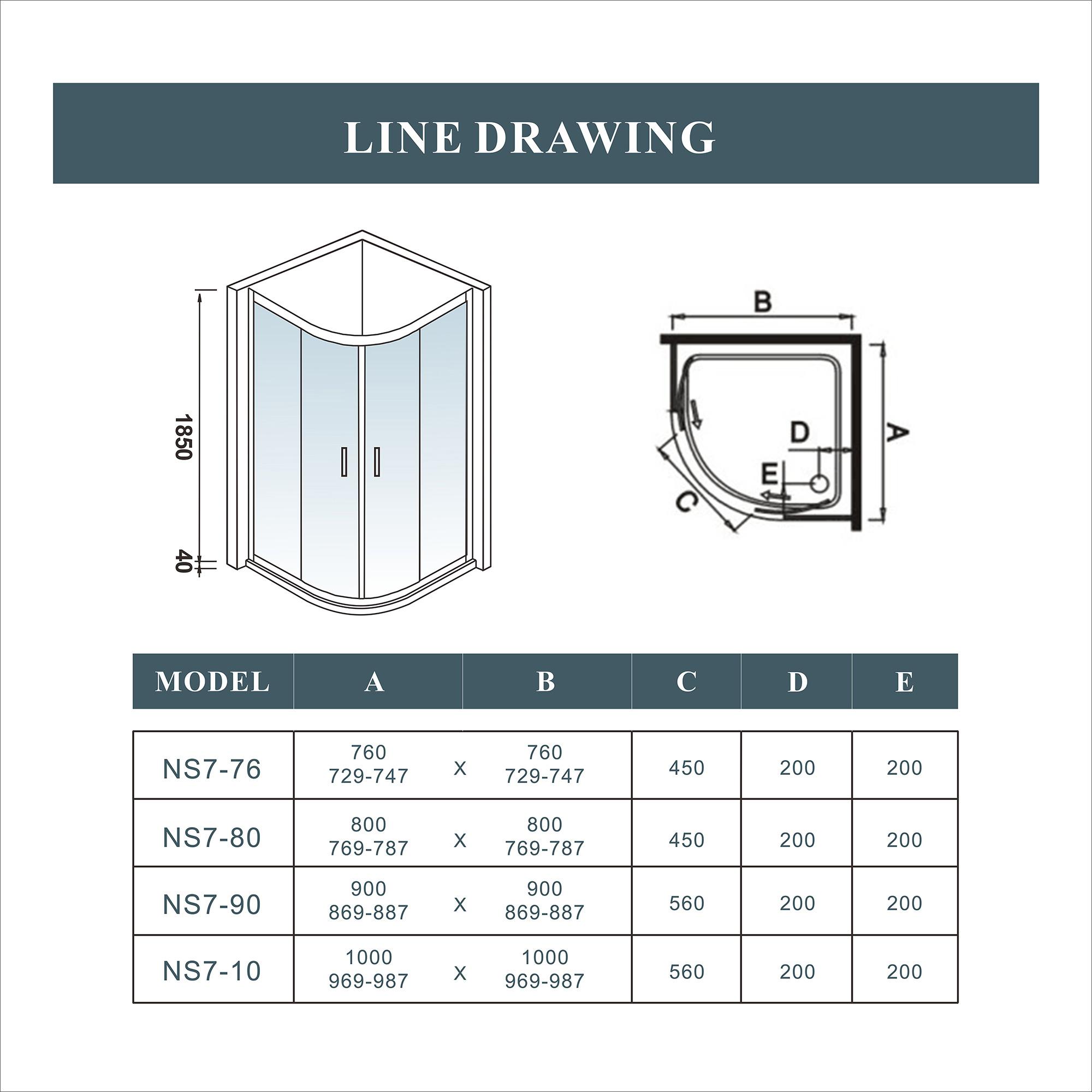 new quadrant shower enclosure walk in corner cubicle glass