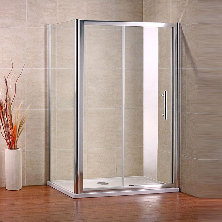 Dusche Nischent?r Rahmenlos : Cubicle with Sliding Shower Door