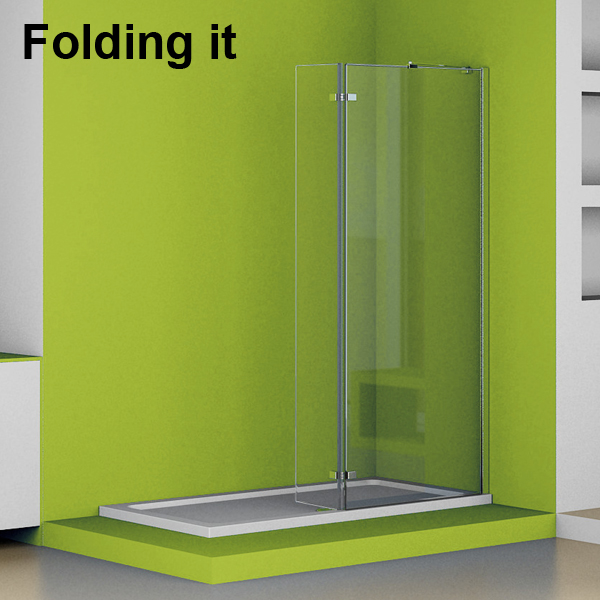 1700x700 Folding Walk In Shower Enclosure Tall Wet Room