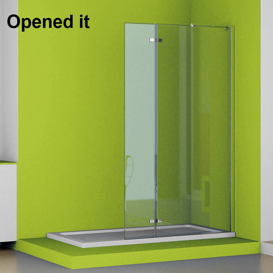 1700x700 Folding Walk In Shower Enclosure Tall Wet Room