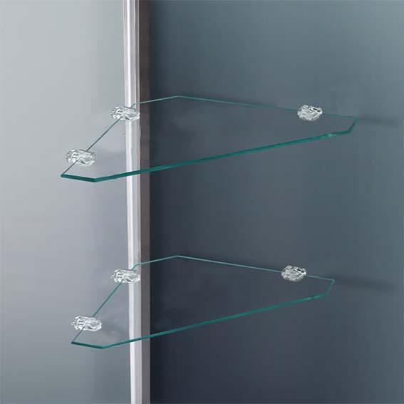 Walk In Shower Enclosure Cubicle Bathroom Glass Door Screen Panel Stone Tray