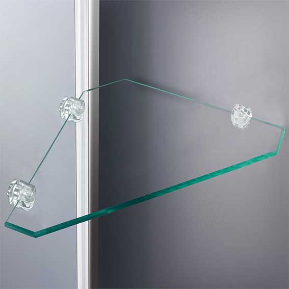 walk in shower enclosure curved 6mm glass cubicle screen ForShower Cubicle Shelves