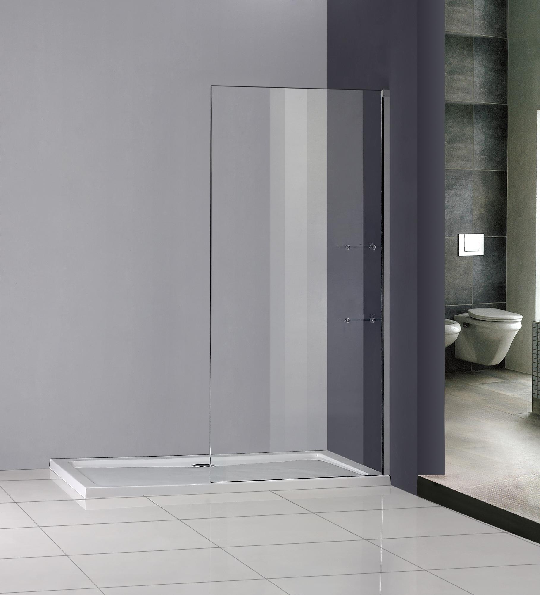 800x1850mm walk in wet room shower enclosure glass cubicle. Black Bedroom Furniture Sets. Home Design Ideas