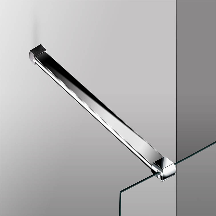 Aluminium Alloy Support Bar Wet Room Screen Walk In Shower