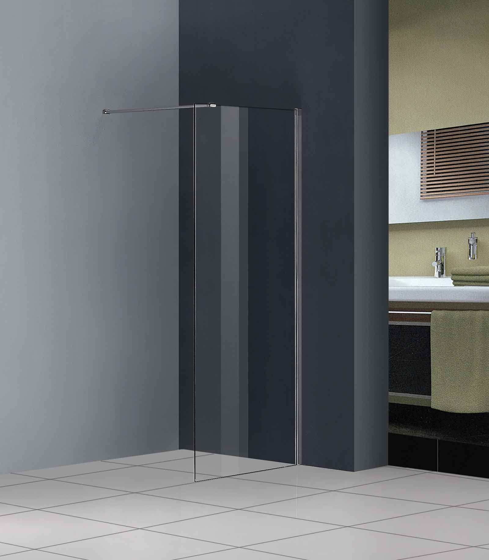 Walk In Shower Enclosure Wet Room Tall Cubicle 8mm