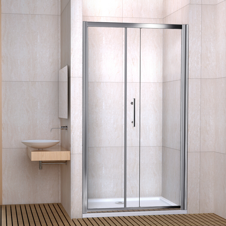 Walk in sliding shower door enclosure toughened glass for 1300 sliding shower door