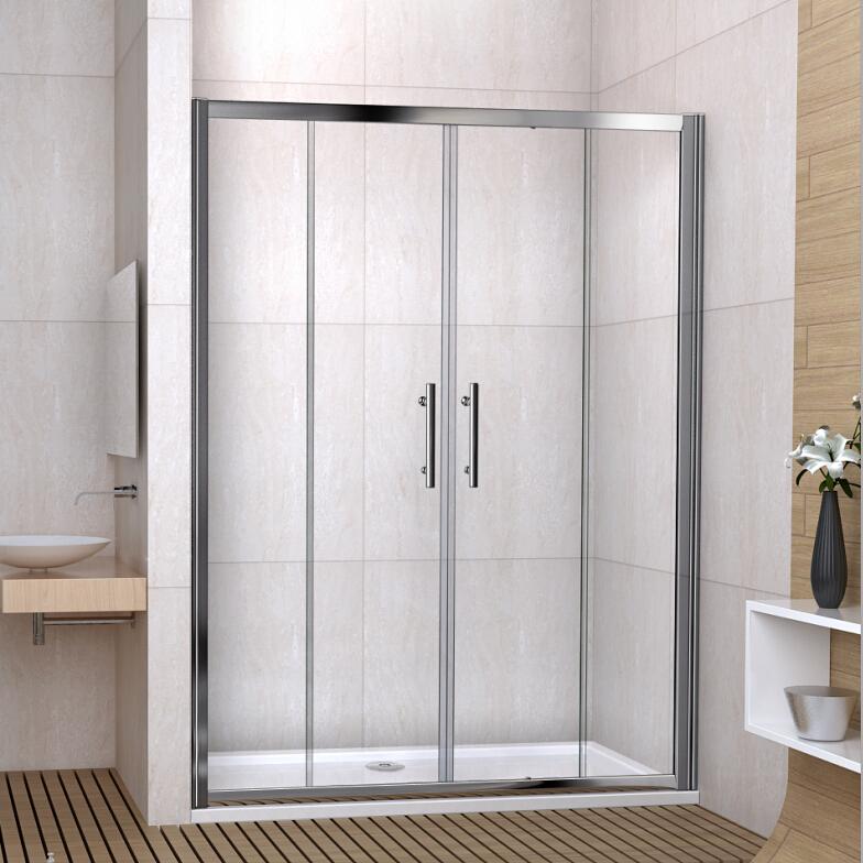 Single double sliding walk in shower enclosure screen door for 1500 sliding shower door