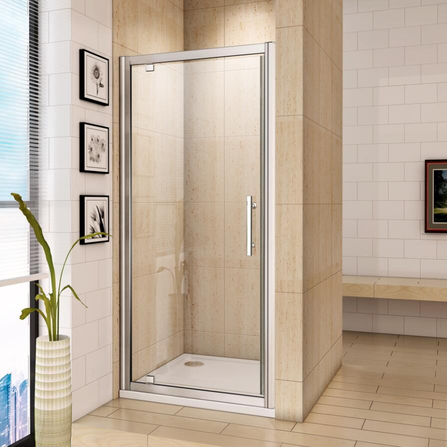 Chrome Bifold Quadrant Sliding Pivot Wet Room Shower