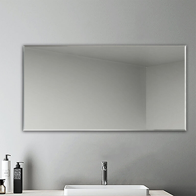 Plain Frameless Wall Mirror Large Full Length With Wall Hanging Fixings Bathroom Ebay