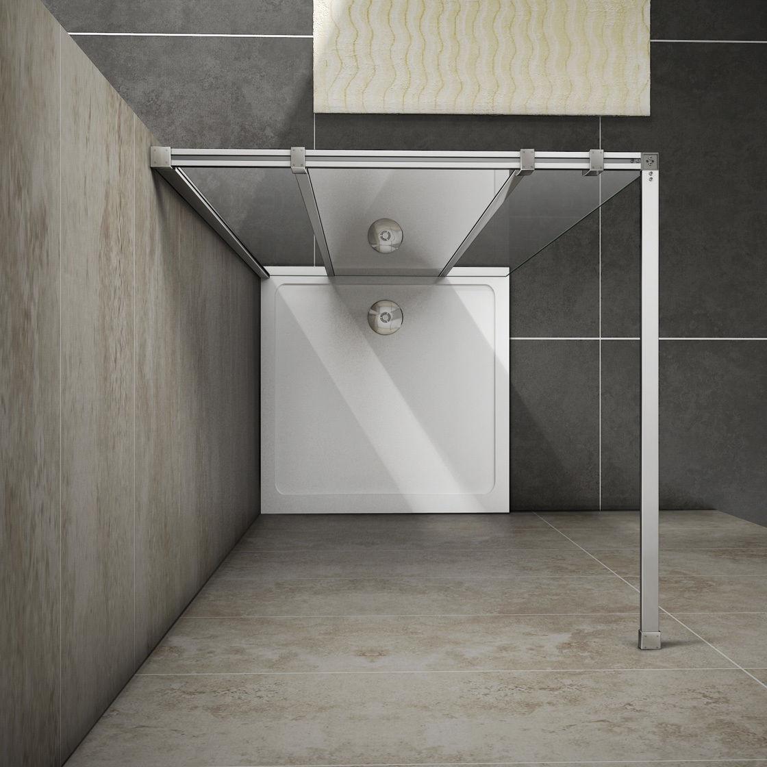 1200x2000 wet room shower enclosure mirror glass screen for Wet room shower screen 400mm