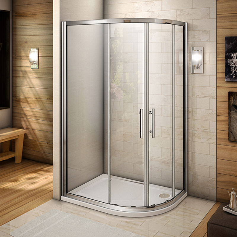 Quadrant Shower Enclosure Corner Cubicle Glass Door Screen Tray ...