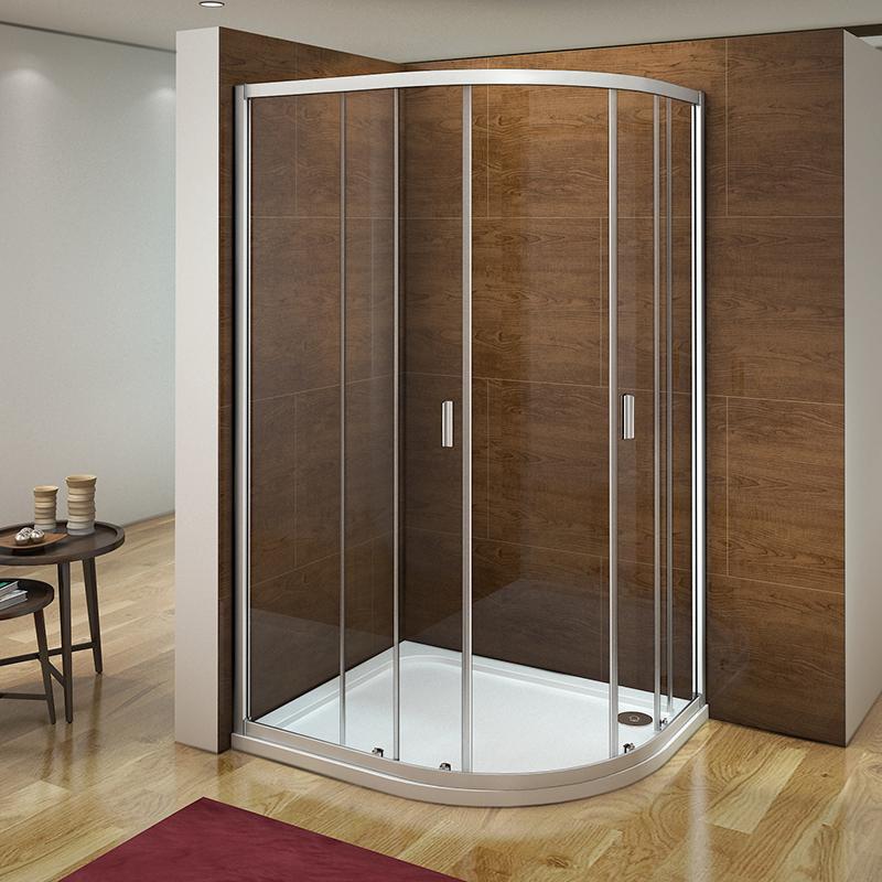 Aica 1200 X 800 Quadrant Shower Enclosure And Tray Corner