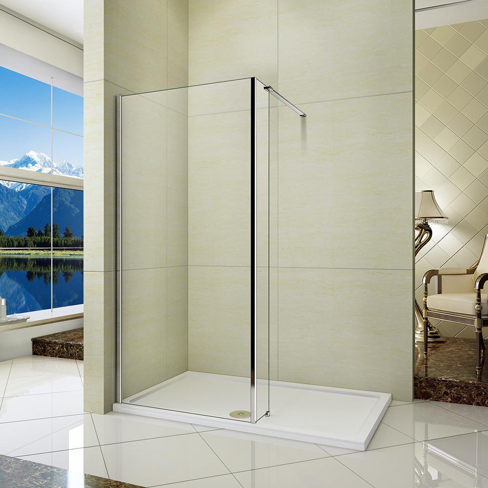 L Shape Wet Room Shower Screen And 300mm Fixed Return