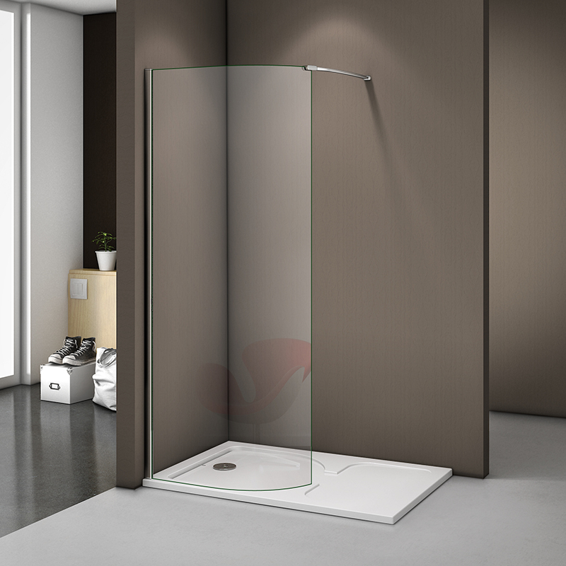 New Wet Room Shower Enclosure Curved Screen And Tray Walk