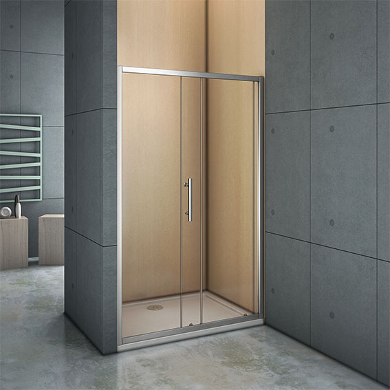 Walk in sliding door glass cubicle screen shower enclosure for 1300 sliding shower door