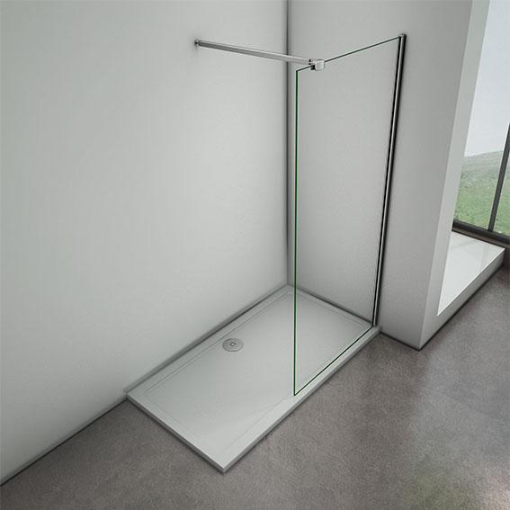 Walk In Shower Enclosure Wet Room Screen Panel Easyclean