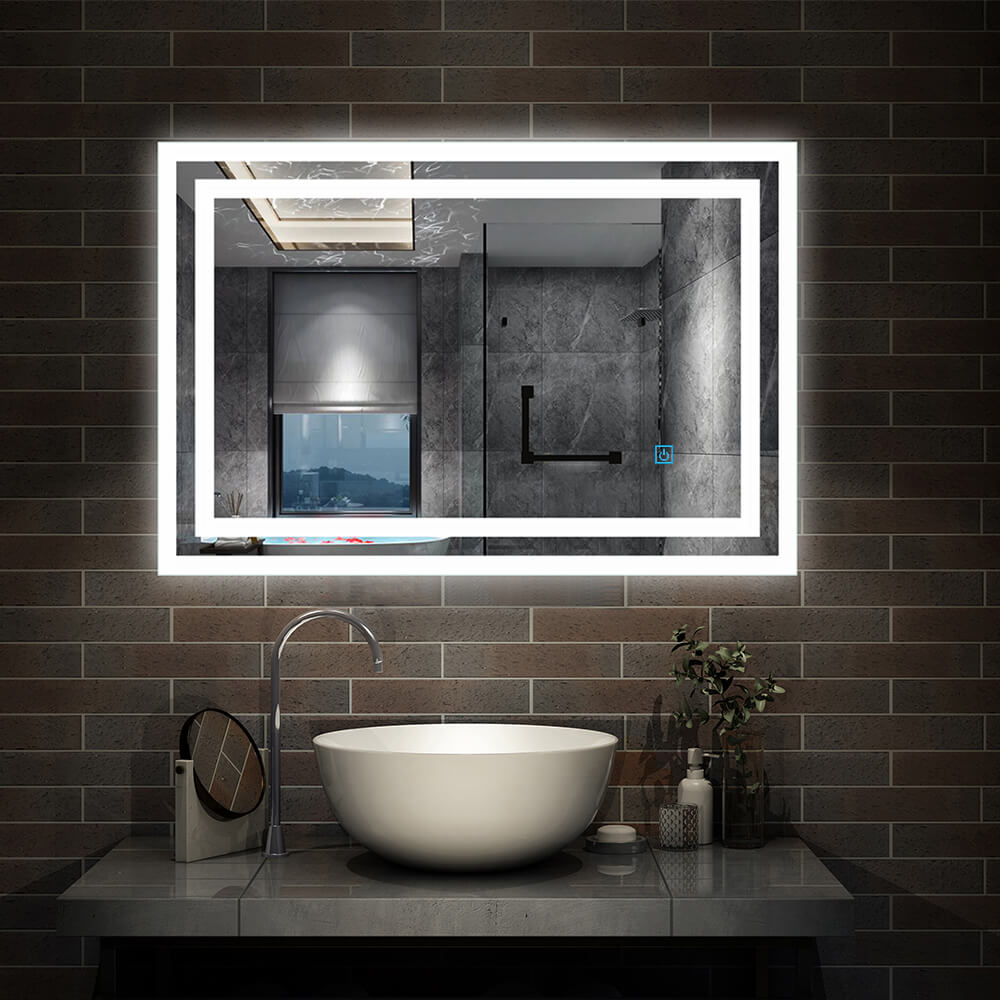 Led Bathroom Mirror Lights Touch Switch Sensor Demister Pad Mirrors By Aica Ebay