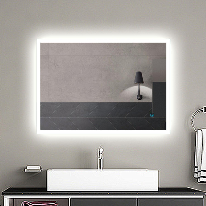 Led Illuminated Bathroom Mirror Light Demister Touch Sensor Switch Lighted Ip44 Ebay