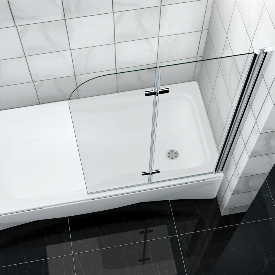 Bathroom 180 176 Pivot Hinge Folding Bath Shower Screen Over