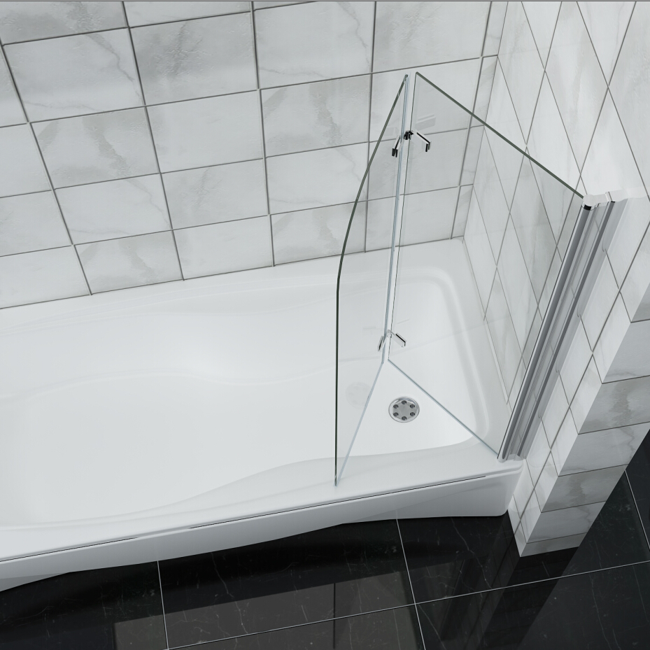 Bathroom 180 176 Pivot Hinge Folding Bath Shower Screen Over