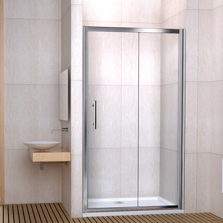 Single Double Sliding Walk In Shower Enclosure Screen Door