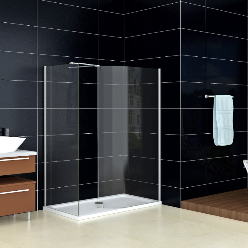 New Walk In Shower Enclosure Wet Room Cubicle Curved Glass