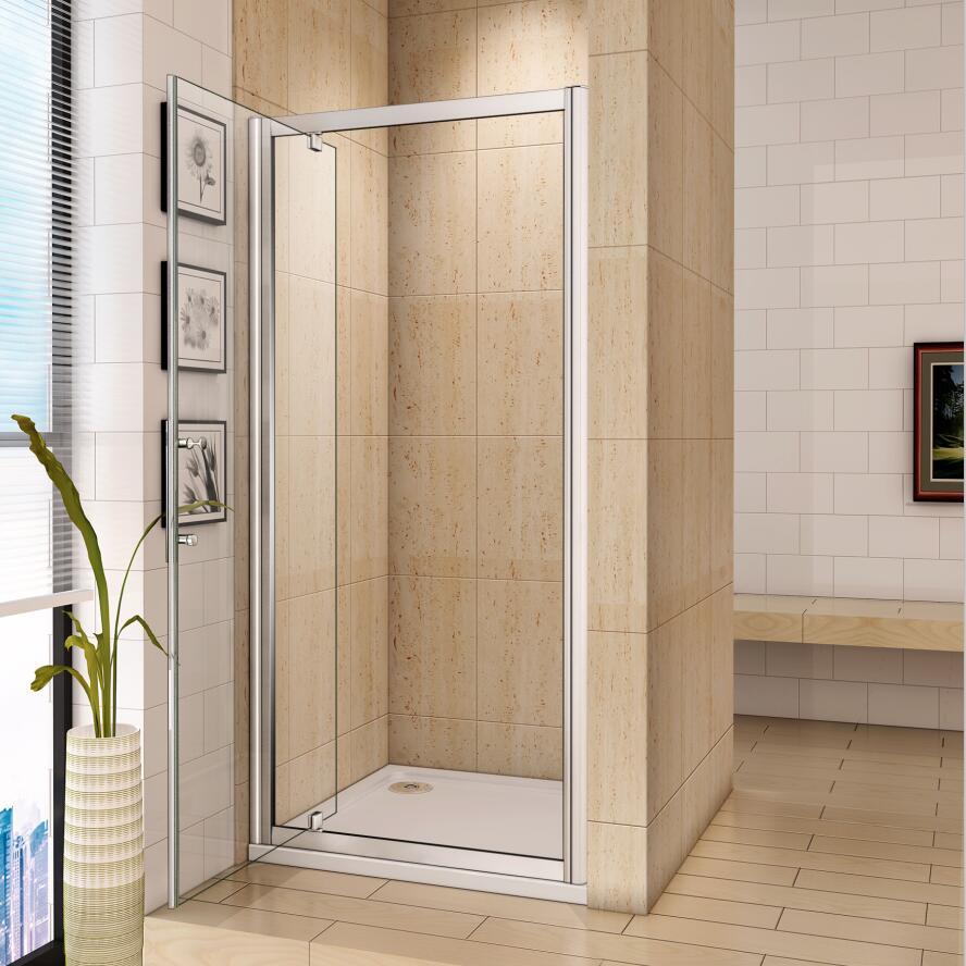 Chrome Bifold Quadrant Sliding Pivot Wet Room Shower