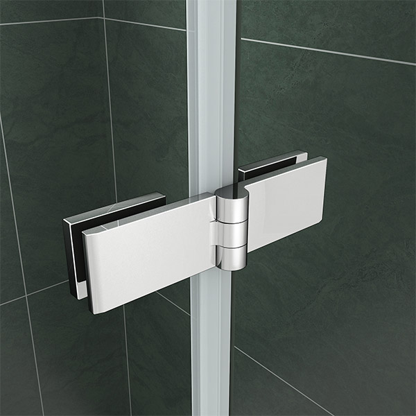 180 176 Pivot Hinge 2 Fold Folding Double Glass Shower Screen