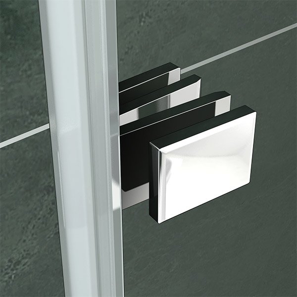 180 176 Pivot Hinge 2 Fold Folding Double Glass Shower Screen